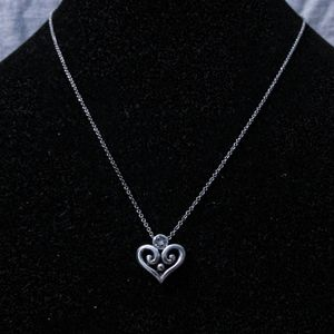 Brighton silver heart necklace,crystal